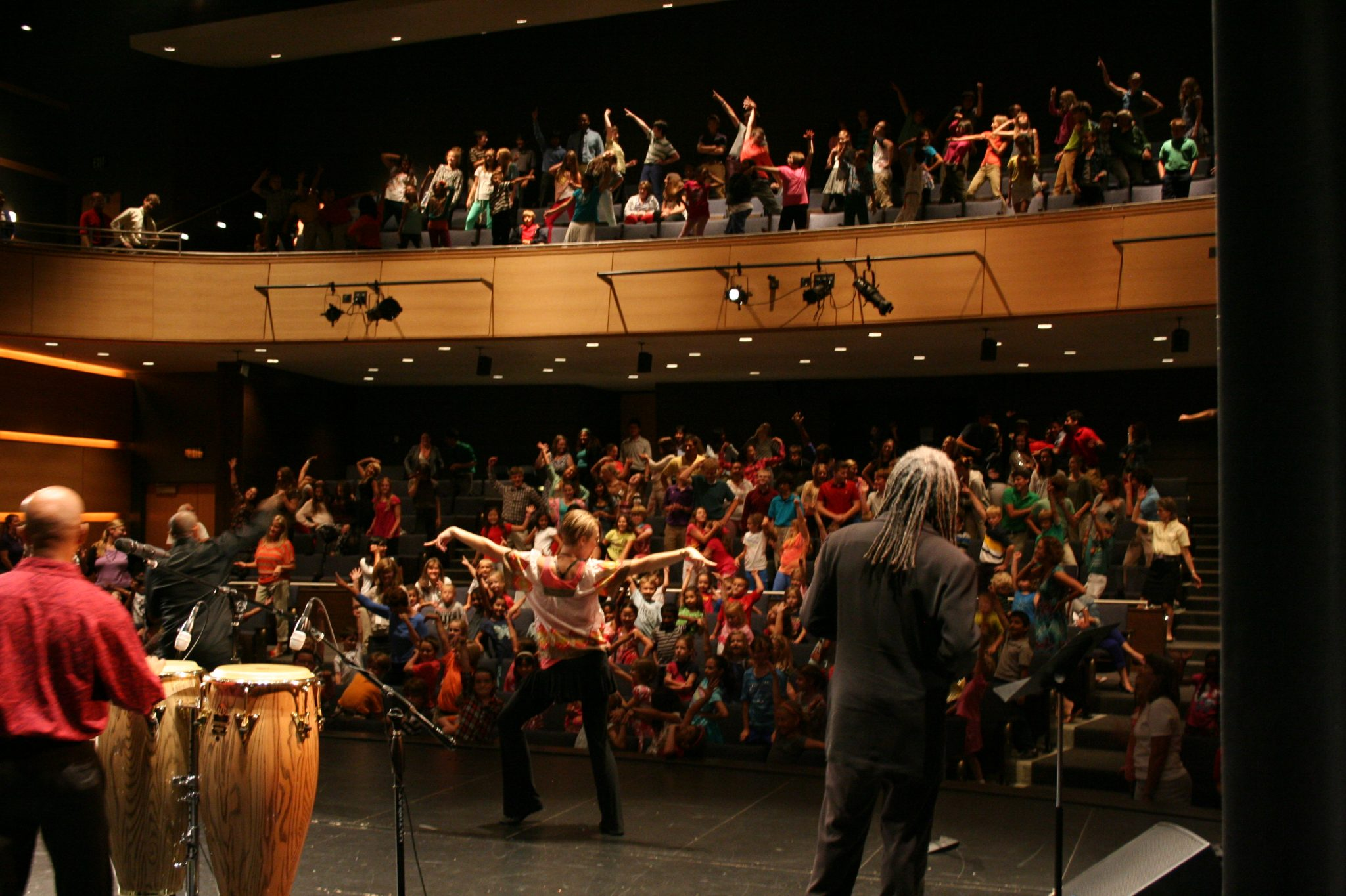 Performers entertain the audience in the TJ Concert Hall